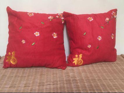 Sofa Cushions with zipper cover x2 pcs $5