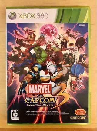 原裝 日版 XBOX360 遊戲 MARVEL vs CAPCOM 3 Fate of Two Worlds Game NTSC J 動作 Action 格鬥 Fighting