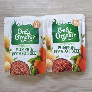 Only Organic Baby Food - Pumpkin, Potato & Beef