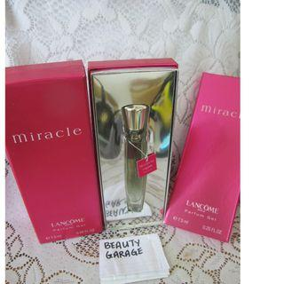 RARE CLEARANCE ! 2 x 7.5ml LANCOME MIRACLE PERFUME GEL SET EDP Women perfume !