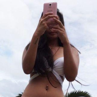 White Strappy Bikini Top