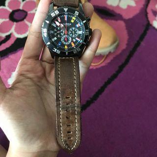 Jam Tangan Nautica Leather / Kulit