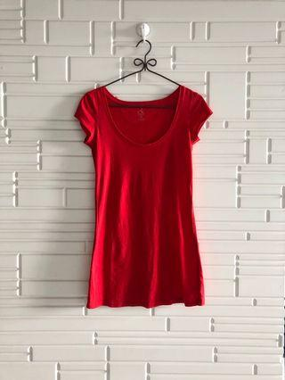 Calvin Klein Red capped sleeved t-shirt size XS CK