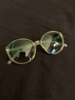 ASOS Green Tinted Eyewear Sunglasses