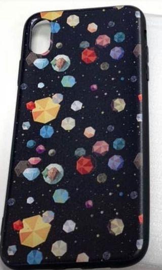全新iPhone XSMax case 浮雕防摔軟膠殻(送高清鋼化膜)