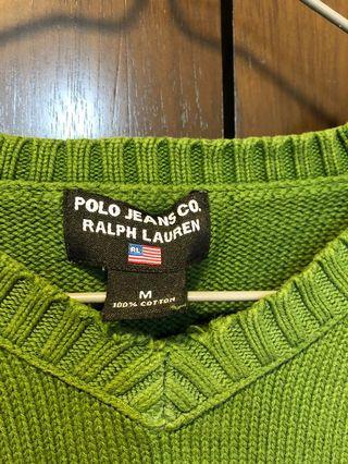 Polo Jeans Ralph Lauren 綠色V領襯衫