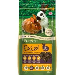 Burgess Excel Adult Rabbit Nuggets with Oregano - 2KG