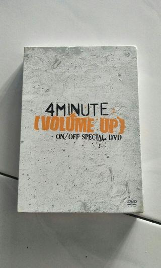 4MINUTE Volume Up ON&OFF DVD