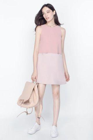 BNWT Fayth Sonore Pink Colour Block Dress XS