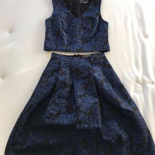 gorgeous 💙 co-ord crop and midi skirt