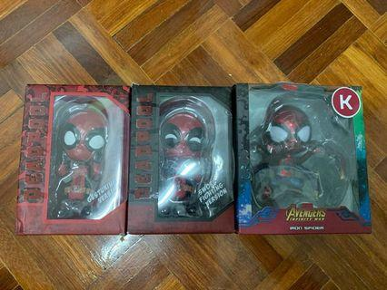 Cosbaby Deadpool and Iron Spiderman (OEM)