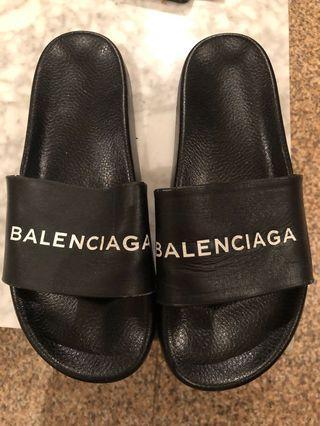 Balenciaga Leather Slides