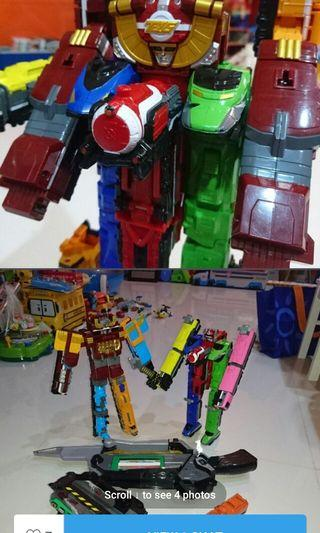 🚚 Sentai trains zords power rangers robots figures