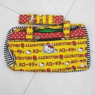EEUC Jujube Strawberry Stripes Starlet with Sold Separately Messenger Strap