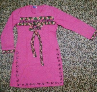 #mauthr Baju Gamis Pink Payet