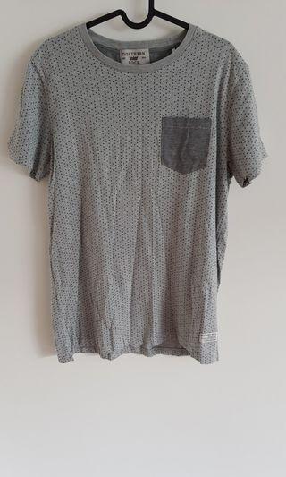 Men's Grey Patterned T-Shirt