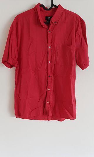 H&M Men's Red Shirt