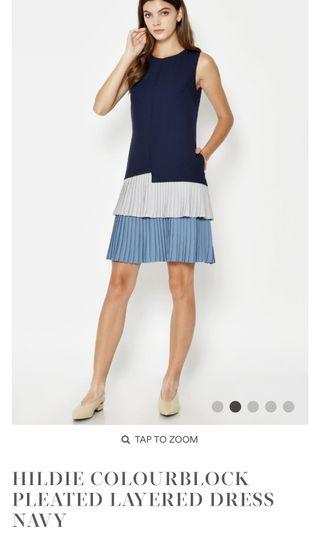 🚚 Love & Bravery Colourblock Pleated Layered Dress