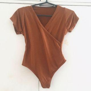Dark brown bodysuit