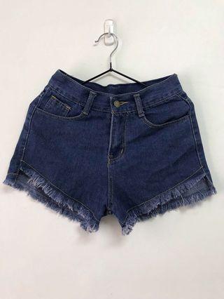 深藍 牛仔短褲