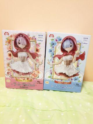Authentic Re: Zero SSS figures Red hood Rem and Ram