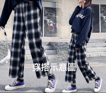 格子褲/古著風/現在最流行