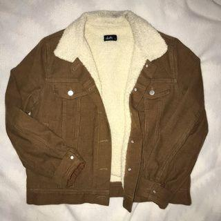 Brown/Tan Fur-Lined Jacket