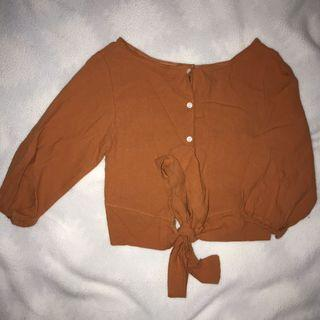 Brown/Tan Tie-Up Shirt