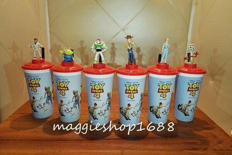 香港戲院限定迪士尼Toy Story反斗奇兵4胡迪三眼仔巴斯光年牧羊女勁爆公爵小叉汽水杯