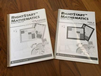 Rightstart Mathematics Level B Lesson's and Worksheets