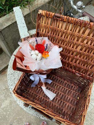 Graduation preserved flower bouquet