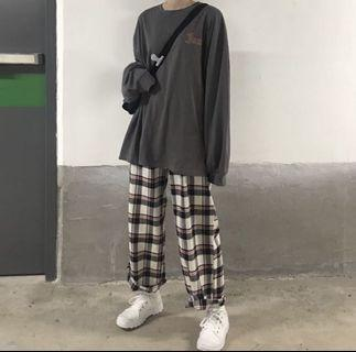 yesstyle plaid / gingham / checkered pants
