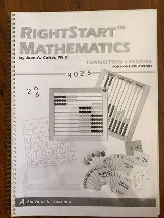 Rightstart Mathematics Transition Lessons and Worksheets