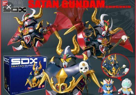 🚚 BANDAI SDX METAL SATAN GUNDAM  ROBOTS SOUL OF CHOGOKIN