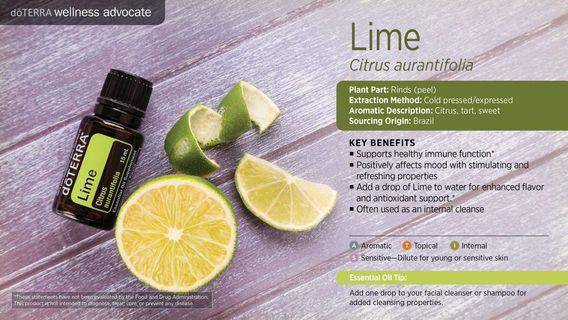 Lime Essential Oil (Normal Price:RM79)
