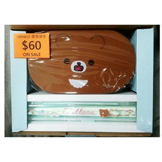 一番賞 鬆弛熊 塑膠餐盒  每款$60