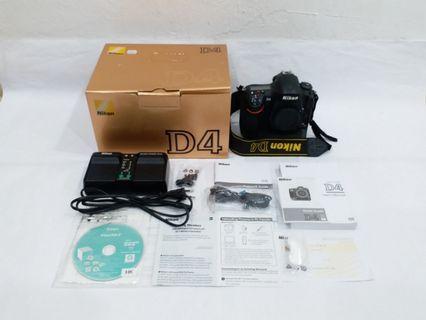 NIKON D4 Body Full Frame, 16MP CMOS Sensor, Complete Set