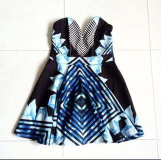 Tracyeinny Blue Abstract Dress