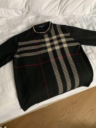 Burberry sweater, men's top, size medium
