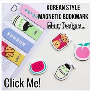 Latest Korean Magnetic Bookmark - Perfect gift for kids, students, friends, colleagues, events, children's party! Birthday Goodie Bags / Loot Bags / Childrens Day / Teachers Day / Friendship Day/ Christmas / School / Study / Art / Travel / Cartoon