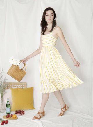 Andwelldressed Cross Back Stripe Dress