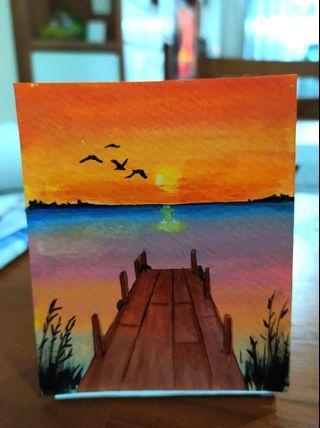 🚚 Mini art piece 100% handpainted with acrylic #mini acrylic art