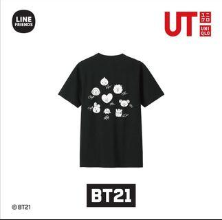 Kaos BTS BT21 x Uniqlo SIZE S (ARMY)