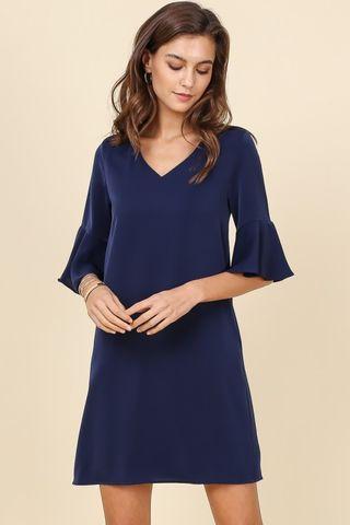 Supergurl bell sleeve dress