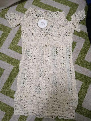 See by Chloe - crochet dress with separate inner lining