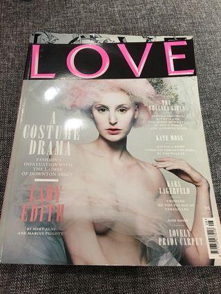 Love magazine no8 A costume drama AW2012 Lady Edith