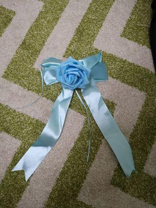 Blue rose - ribbon with silicon suction cupx 4