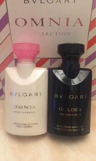 BVLGARI 香水Body Lotion & Shower Gel 各40ml
