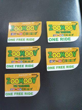 🚚 5 Zoomoov ride tickets at S$8