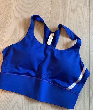 Under armour electric blue crop top bra